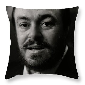 Luciano Pavarotti Throw Pillow