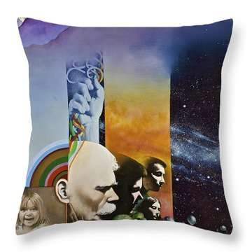 Throw Pillow featuring the painting Lucid Dimensions by Cliff Spohn