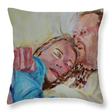 Lucien And Kate II Throw Pillow by Bachmors Artist