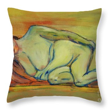 Lucien Who? Throw Pillow