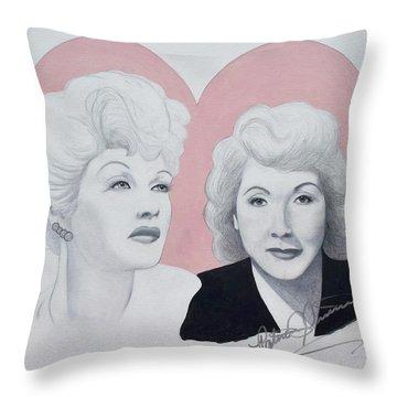 Lucille And Vivian Throw Pillow
