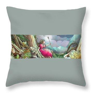 Lucinda  Throw Pillow by Reynold Jay
