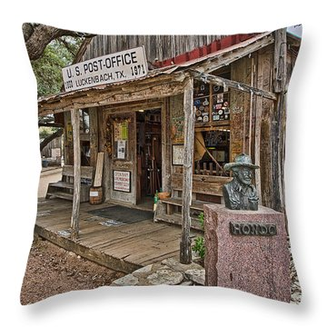 Luckenbach Post Office And General Store_2 Throw Pillow