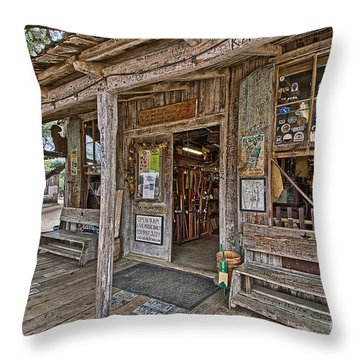 Luckenbach Post Office And General Store_4 Throw Pillow