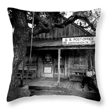 Luckenbach Texas Throw Pillow