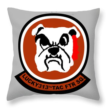 Lucky 313th Tac Ftr Sq Throw Pillow