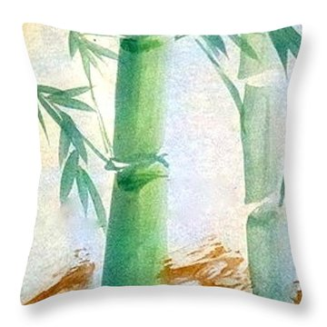 Lucky Bamboo Throw Pillow