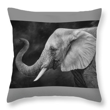 Lucky - Black And White Throw Pillow