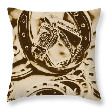 Lucky Cowboys Charm Throw Pillow