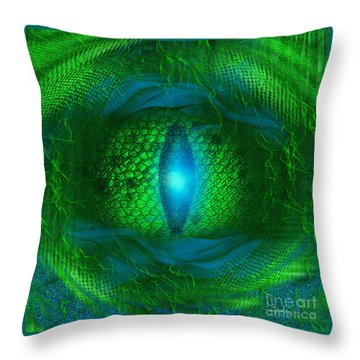 Lucky Dragon's Eye - Abstract Art By Giada Rossi Throw Pillow by Giada Rossi