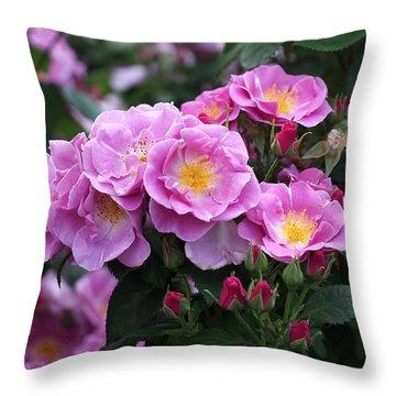 Lucky Floribunda Roses Throw Pillow