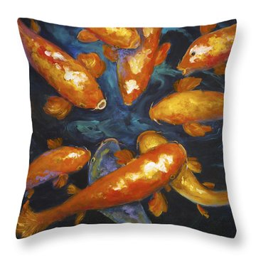 Lucky Koi Throw Pillow