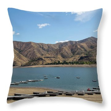 Lucky Peak, Idaho Throw Pillow