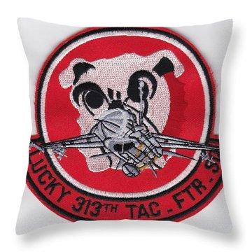 Lucky Puppy Throw Pillow