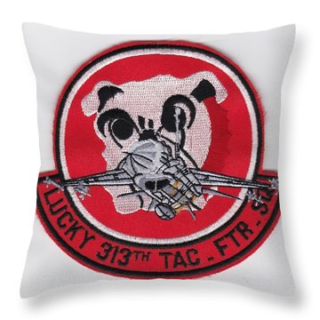 Lucky Puppy Throw Pillow