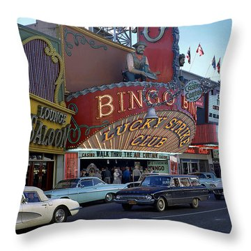 Lucky Strike Club, Las Vegas Throw Pillow