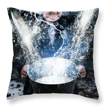 Throw Pillow featuring the photograph Lucky Strike by Jorgo Photography - Wall Art Gallery