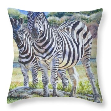 Lucky Stripes Throw Pillow