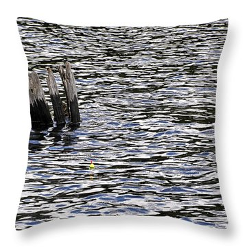 Throw Pillow featuring the photograph Lucky Stump by Angie Rea