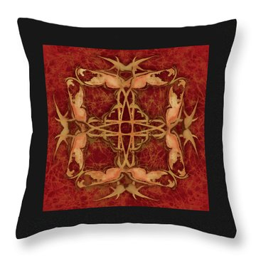 Lucky Zen Fly Bi Throw Pillow