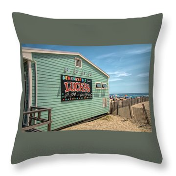 Throw Pillow featuring the photograph Luckys At Jenkinsons South by Kristia Adams