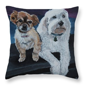 Lucy And Colby Throw Pillow