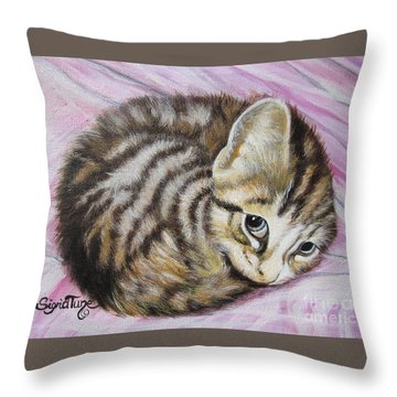 Lucy Girl Throw Pillow