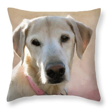 Lucy In Pink Throw Pillow