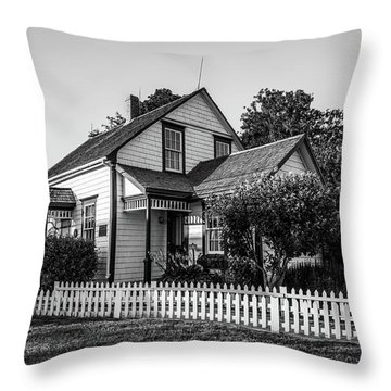 Throw Pillow featuring the photograph Lucy Maud Montgomery Homesite by Chris Bordeleau