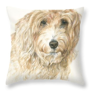 Lucy Throw Pillow by Meagan  Visser