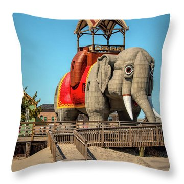 Lucy On The Beach Throw Pillow