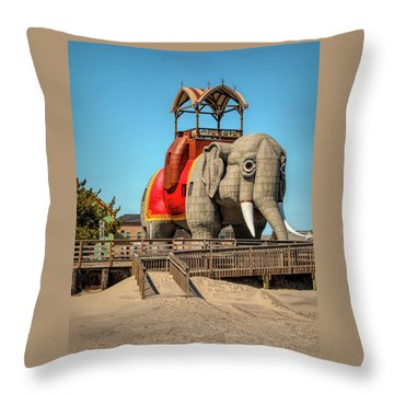 Throw Pillow featuring the photograph Lucy On The Beach by Kristia Adams