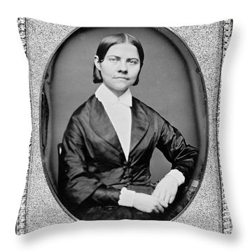 Lucy Stone, American Abolitionist Throw Pillow by Photo Researchers