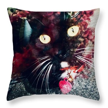 Lucy The Cat Throw Pillow