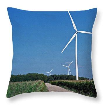 Ludington Wind Farm Throw Pillow