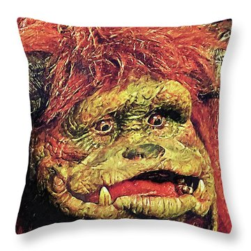 Throw Pillow featuring the digital art Ludo - Labyrinth by Taylan Apukovska