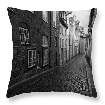 Luebeck Rainy Summer Throw Pillow