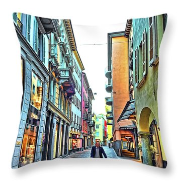 Lugano Switzerland Throw Pillow