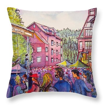 Lukas Nelson And Promise Of The Real Throw Pillow by David Sockrider