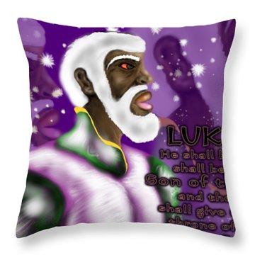 Luke 1.32 Throw Pillow