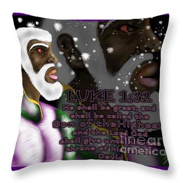 Luke 1.32 S.o.t.m.h Throw Pillow