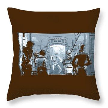Luke In Bacta Throw Pillow by Kurt Ramschissel