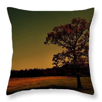 Lullabye Tree Throw Pillow by Nina Fosdick