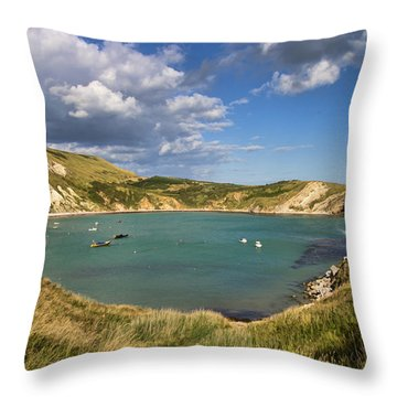 Lulworth Cove Dorset Throw Pillow