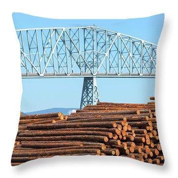 Lumber Mill In Rainier Oregon Throw Pillow