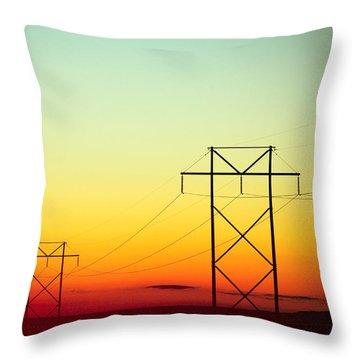 Lumiere Electrique Throw Pillow