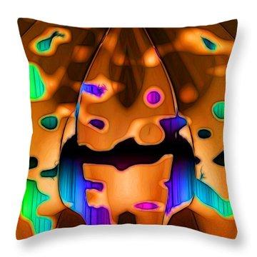 Throw Pillow featuring the digital art Luminence by Ron Bissett