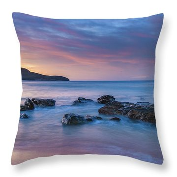 Luminescent Sunrise Seascape Throw Pillow
