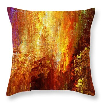Luminous - Abstract Art Throw Pillow