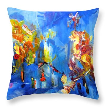 Luminous Celebration  Throw Pillow
